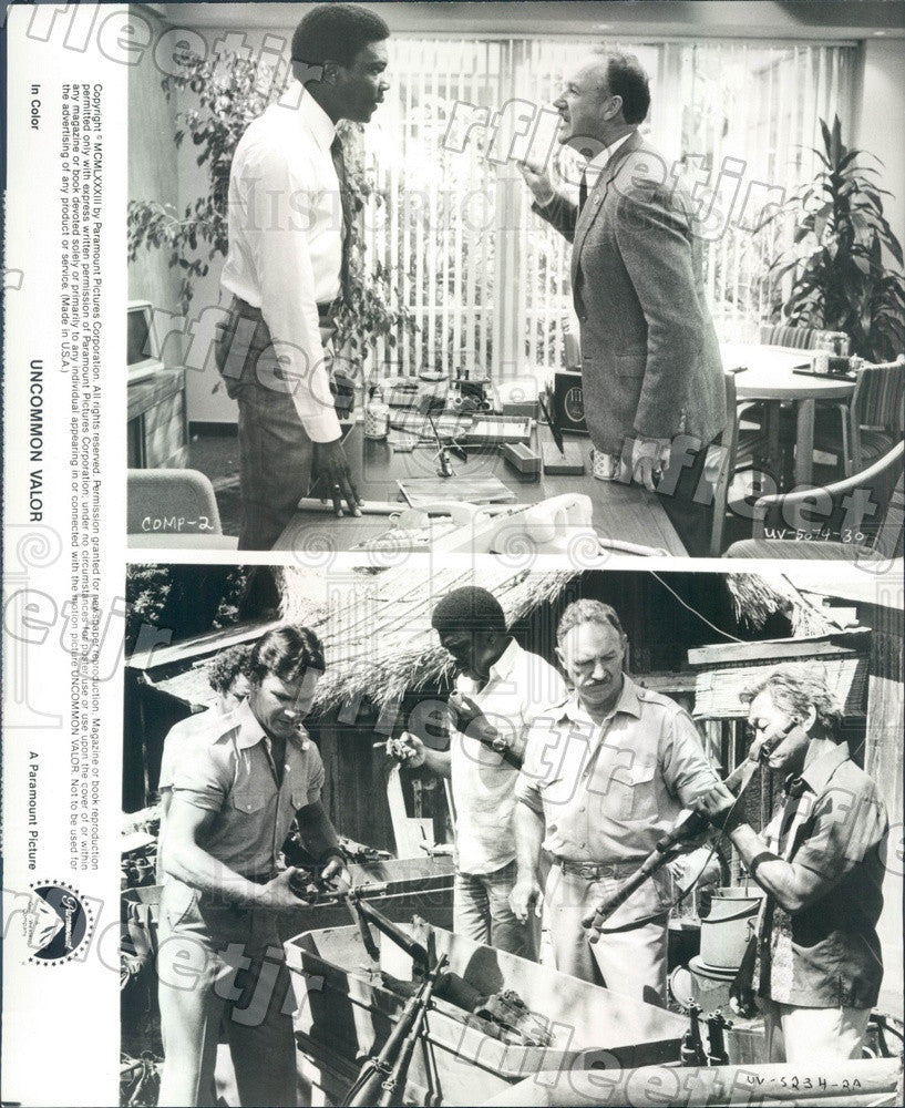 1983 Actors Gene Hackman, Harold Sylvester, Patrick Swayze Press Photo ady1187 - Historic Images
