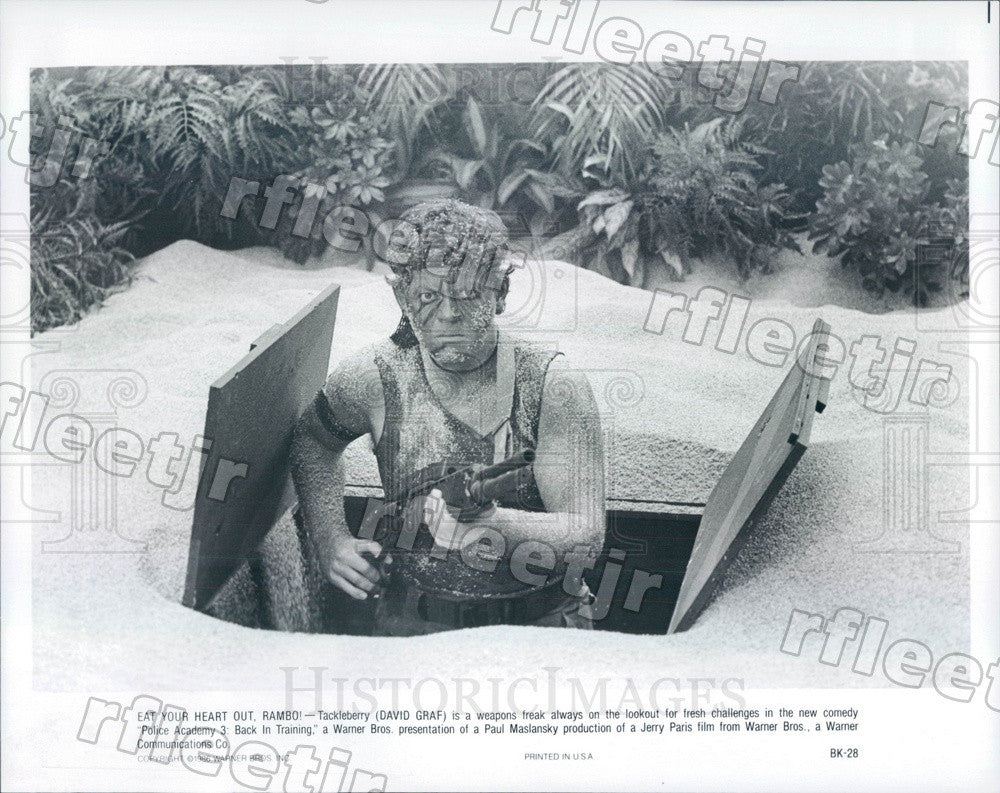 1986 Hollywood Actor David Graf in Film Police Academy Press Photo ady119 - Historic Images