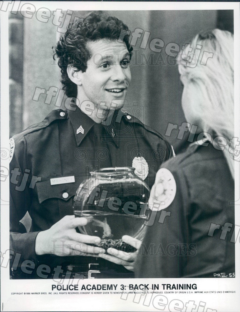 1986 Actor Steve Guttenberg in Film Police Academy 3 Press Photo ady121 - Historic Images