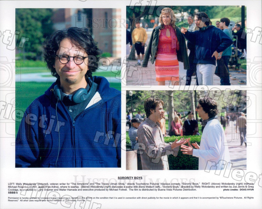 2002 Director Wally Wolodarsky, Actors Michael Rosenbaum Press Photo ady135 - Historic Images