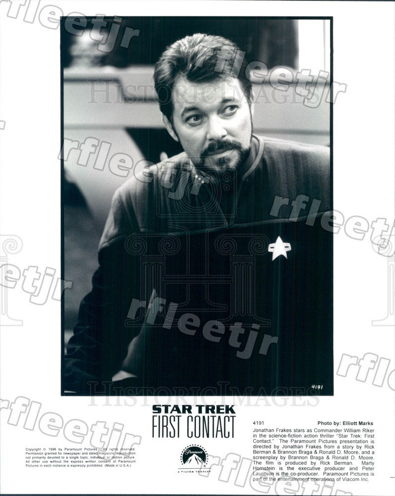 1996 Actor Jonathan Frakes in Film Star Trek: First Contact Press Photo ady147 - Historic Images