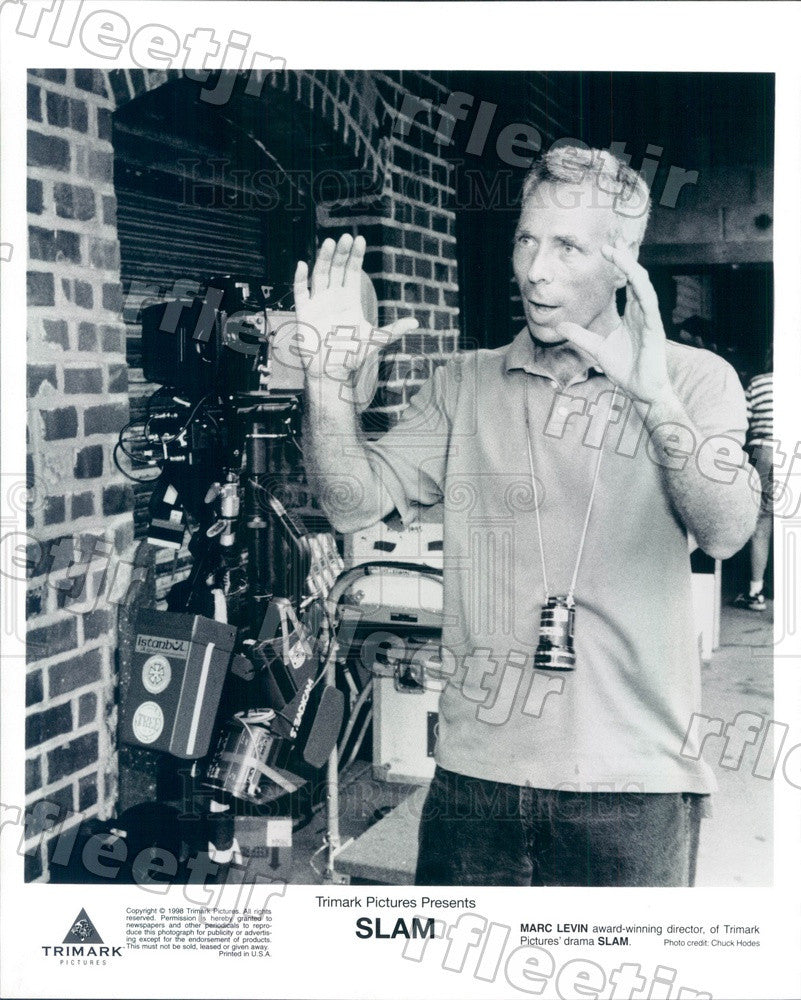 1998 Emmy Winning Director Marc Levin Filming Slam Press Photo ady151 - Historic Images