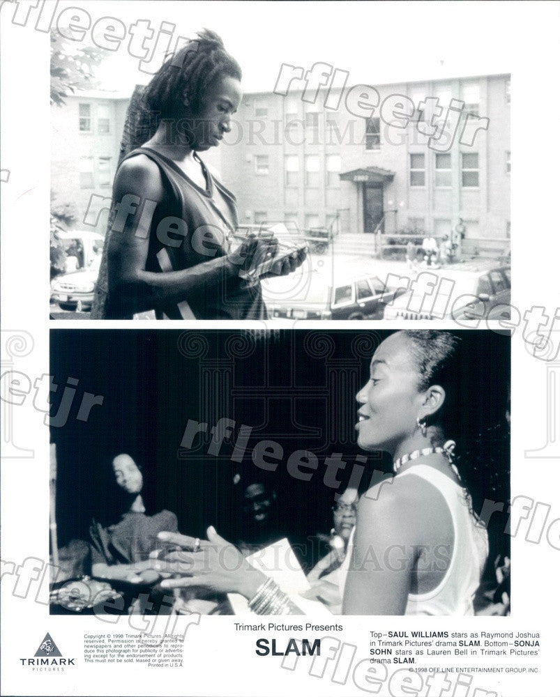 1998 Actors Saul Williams & Sonja Sohn in Film Slam Press Photo ady153 - Historic Images
