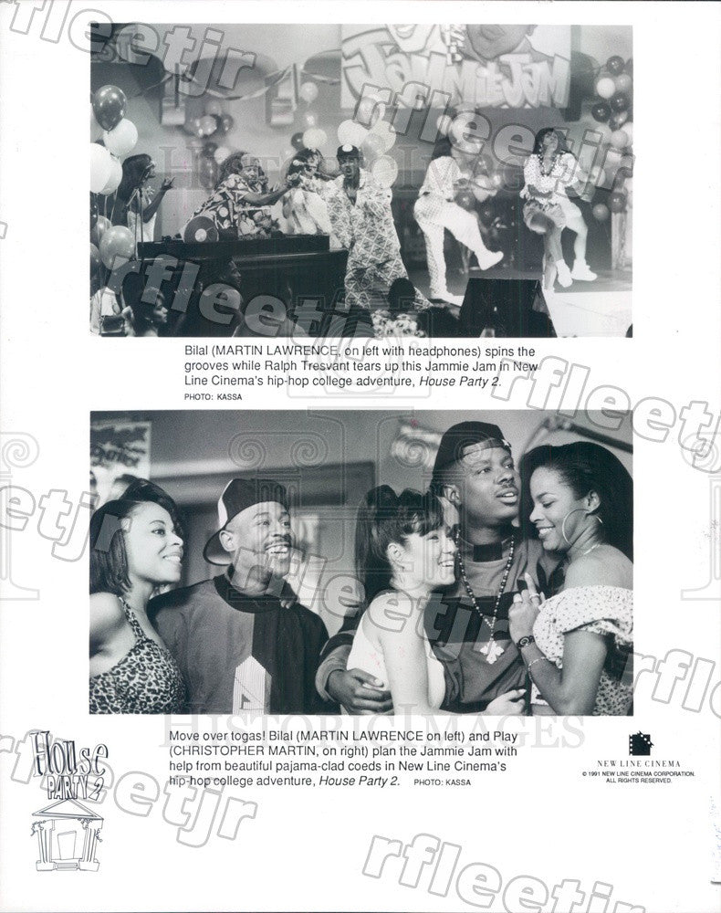 1991 Actors Martin Lawrence & Christopher Martin in Film Press Photo ady163 - Historic Images