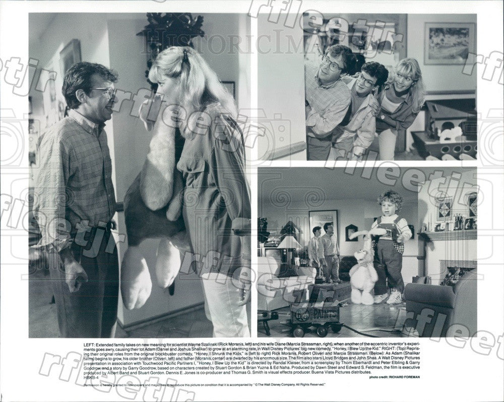 Undated Actors Rick Moranis, Marcia Strassman, Robert Oliveri Press Photo ady171 - Historic Images