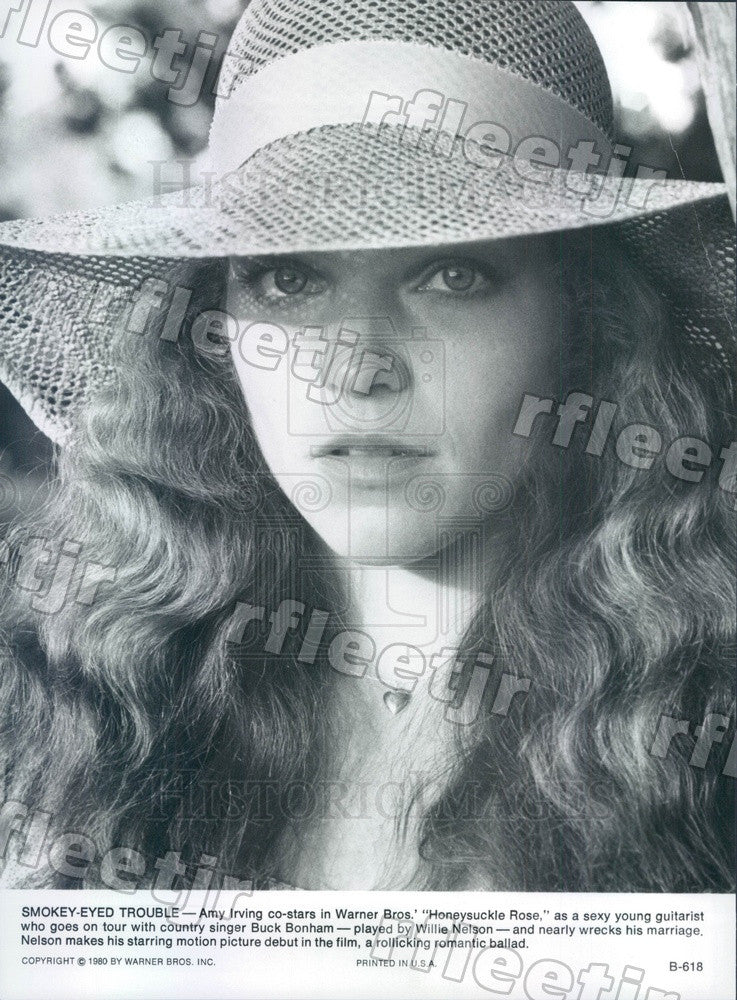 1980 Actor Amy Irving in Film Honeysuckle Rose Press Photo ady175 - Historic Images