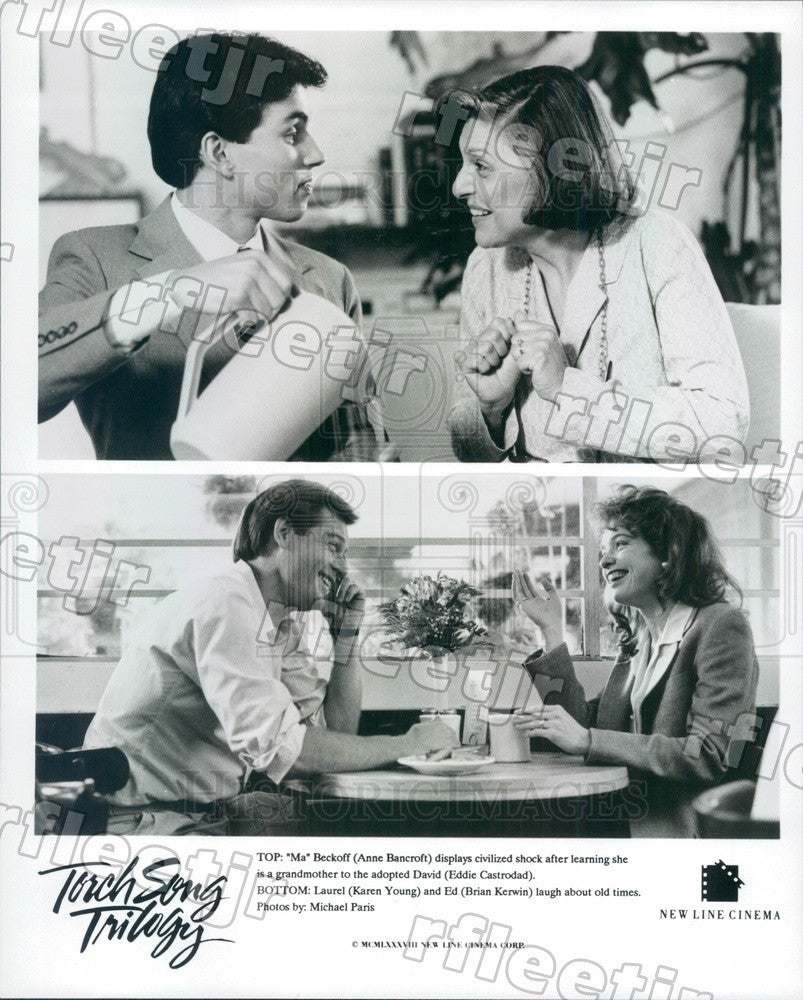 1988 Actors Anne Bancroft, Eddie Castrodad, Karen Young Press Photo ady199 - Historic Images