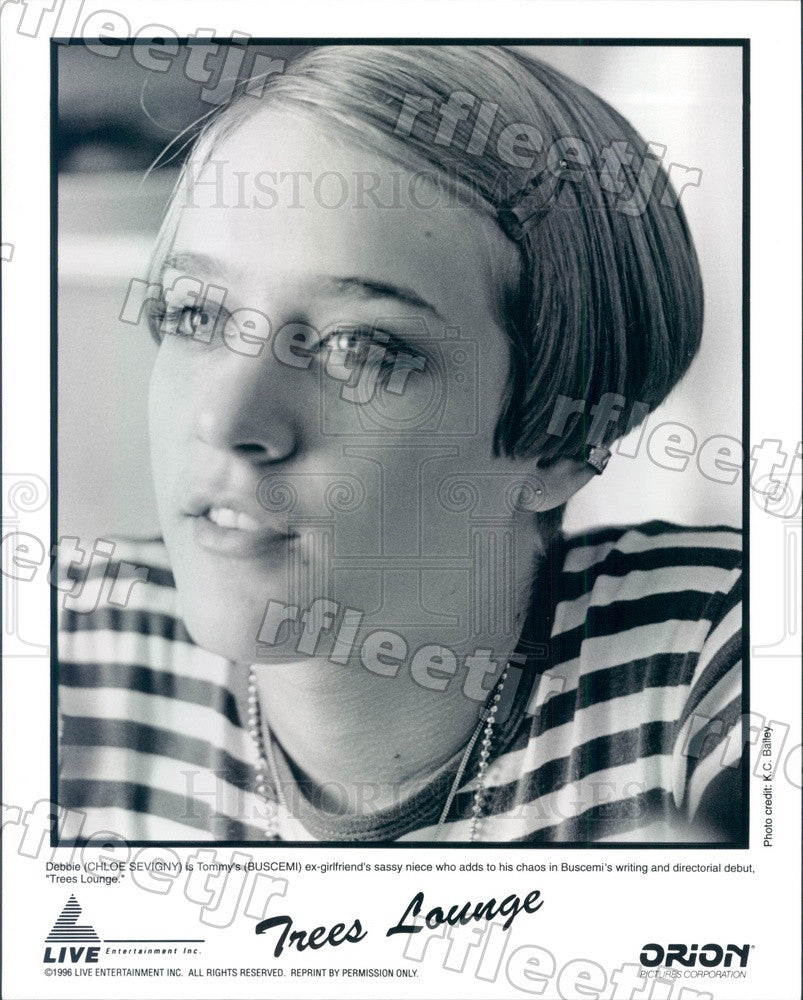 1996 American Actor Chloe Sevigny in Film Trees Lounge Press Photo ady213 - Historic Images
