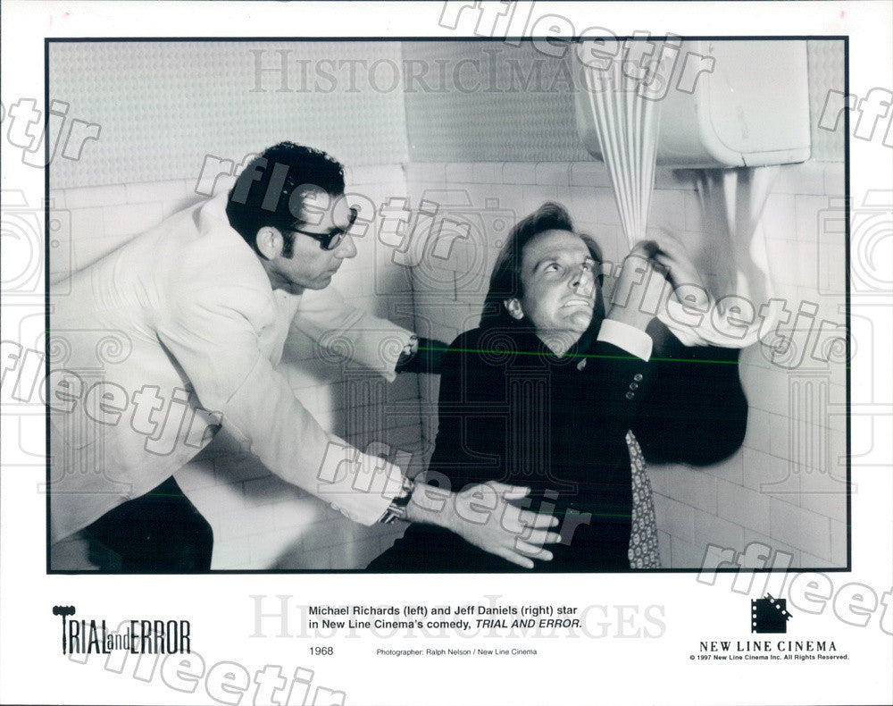 1997 Actors Michael Richards & Jeff Daniels in Film Press Photo ady217 - Historic Images
