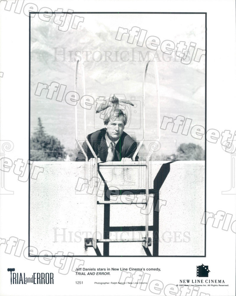 1997 American Actor Jeff Daniels in Film Trial and Error Press Photo ady221 - Historic Images