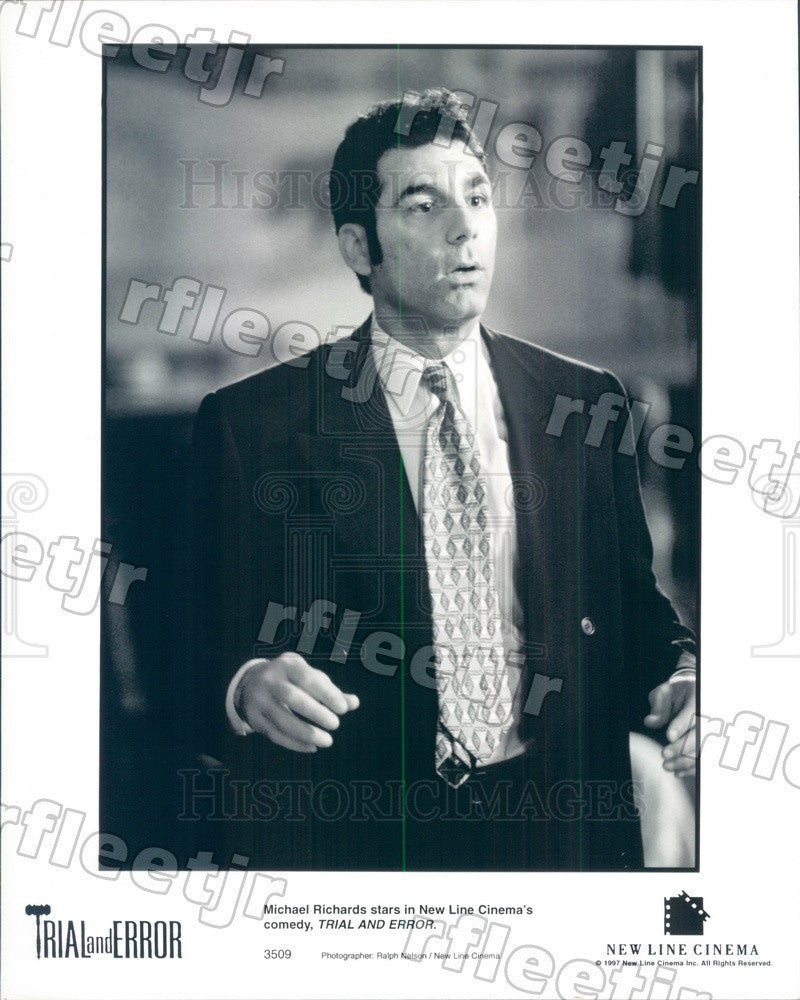 1997 Emmy Winning Actor Michael Richards in Trial and Error Press Photo ady223 - Historic Images