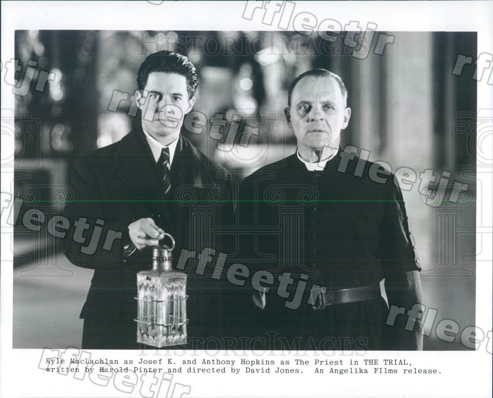Undated Actors Kyle MacLachlan & Oscar Winner Anthony Hopkins Press Photo ady229 - Historic Images