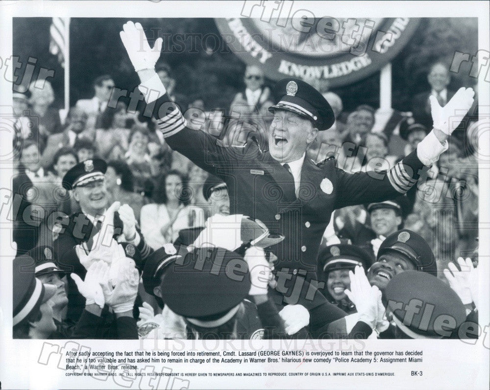 1988 Actor George Gaynes in Film Police Academy 5 Press Photo ady23 - Historic Images