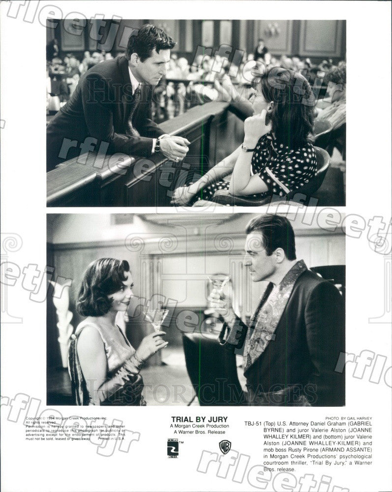 1994 Actors Gabriel Byrne, Joanne Whalley, Armand Assante Press Photo ady231 - Historic Images