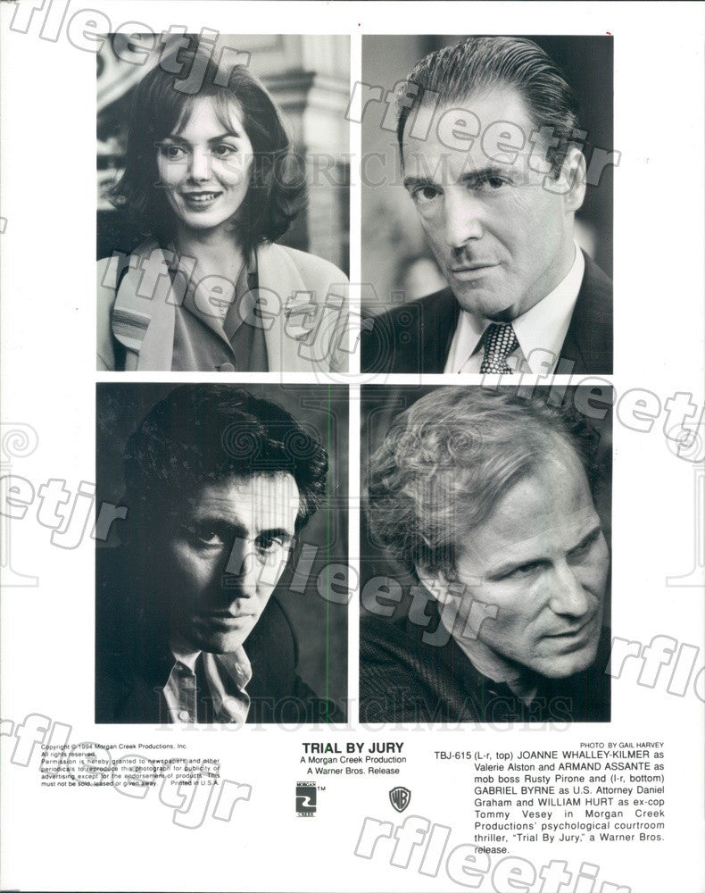1994 Actors Joanne Whalley, Armand Assante, Gabriel Byrne Press Photo ady245 - Historic Images