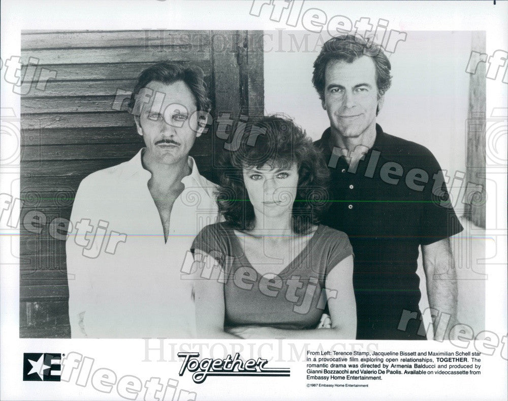 1987 Actor Terence Stamp/Jacqueline Bissett/Maximilian Schell Press Photo ady249 - Historic Images