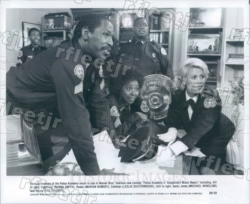 1988 Actors Leslie Easterbrook, Marion Ramsey, Bubba Smith Press Photo ady25 - Historic Images