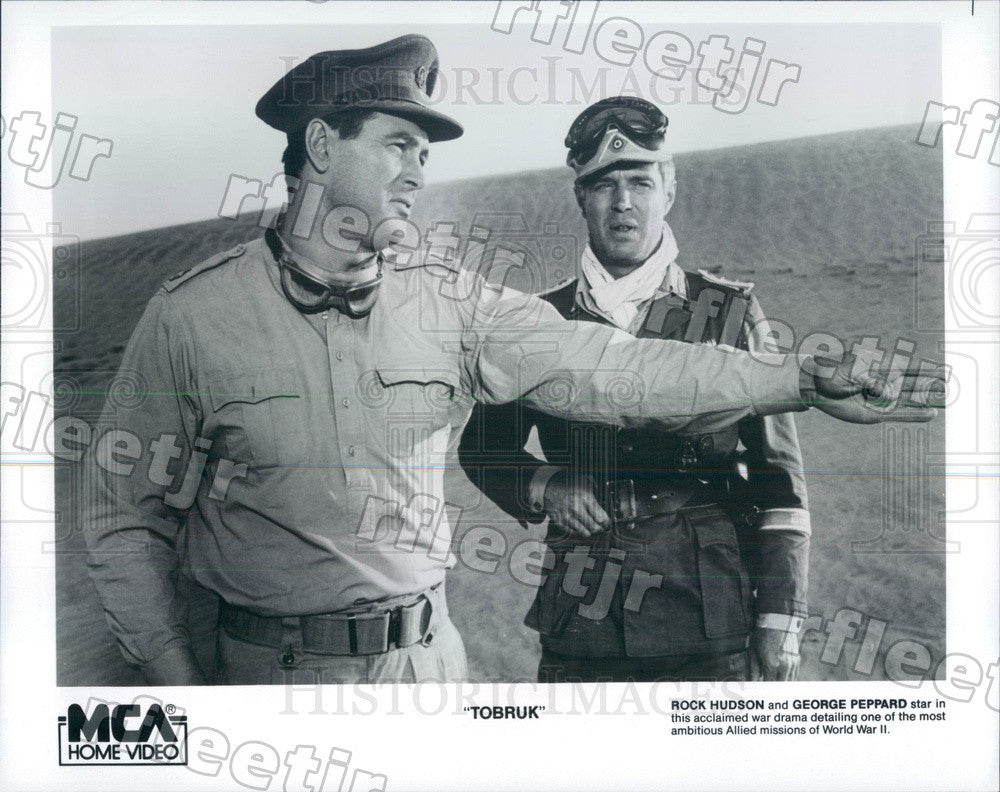 Undated Actors Rock Hudson & George Peppard in Film Tobruk Press Photo ady251 - Historic Images