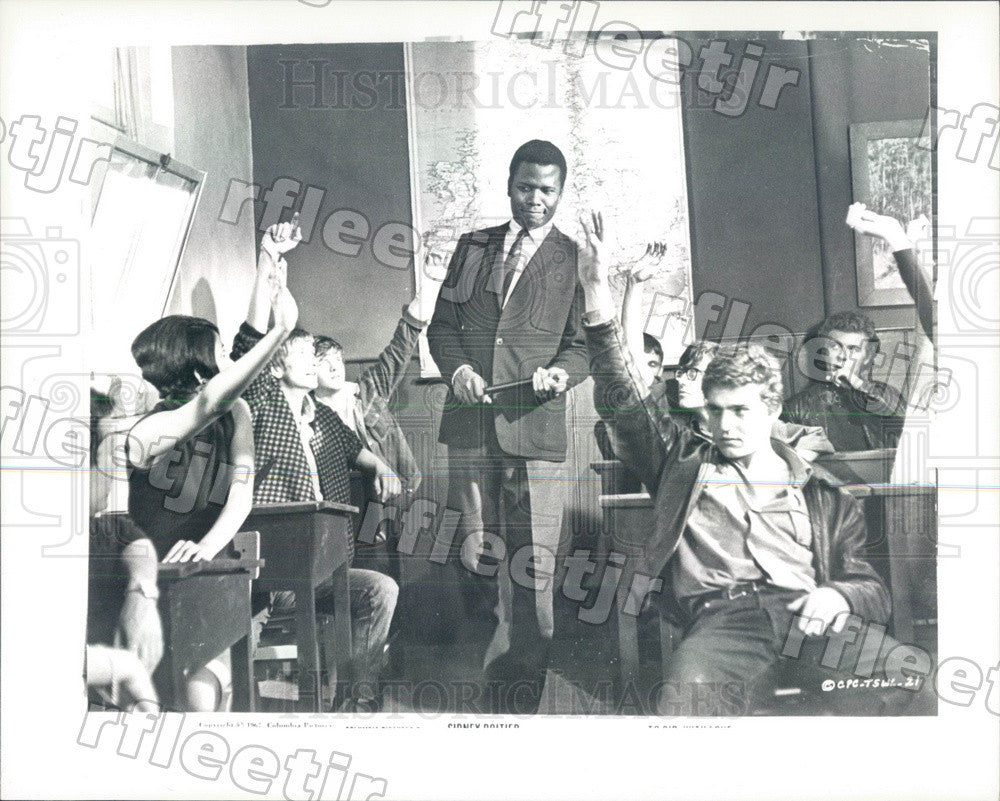 1967 Oscar Winning Actor Sidney Poitier in To Sir With Love Press Photo ady253 - Historic Images