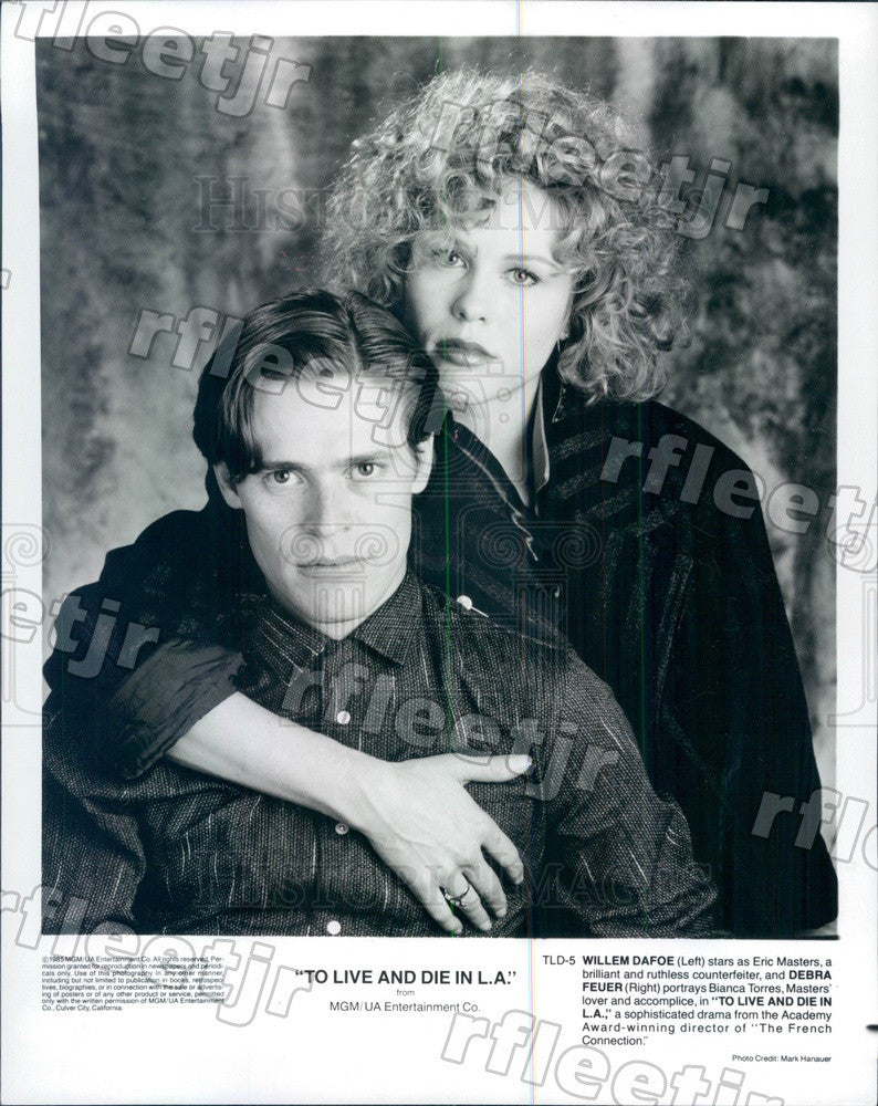 1985 Actors Willem Dafoe & Debra Feuer in Film Press Photo ady261 - Historic Images