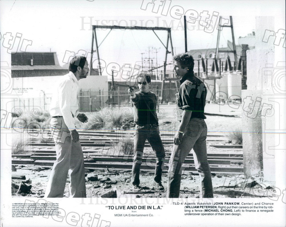 1985 Actors William Petersen, John Pankow, Michael Chong Press Photo ady267 - Historic Images