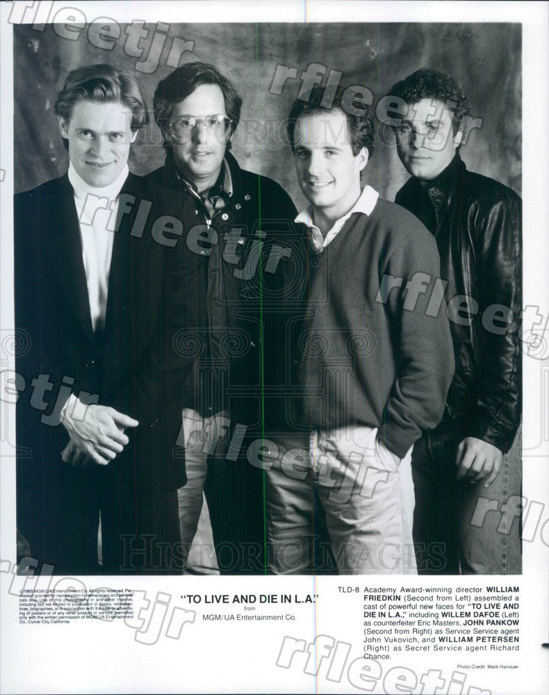 1985 Oscar Winning Dir William Friedkin, William Petersen Press Photo ady271 - Historic Images