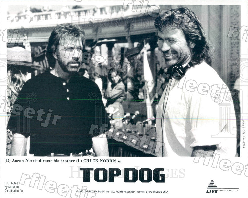1995 Actor Chuck Norris & Director Aaron Norris Press Photo ady277 - Historic Images