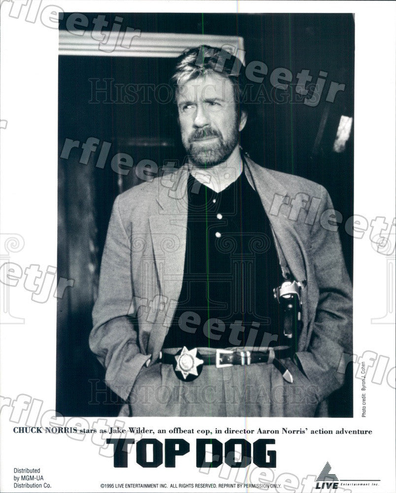 1995 American Actor Chuck Norris in Film Top Dog Press Photo ady281 - Historic Images