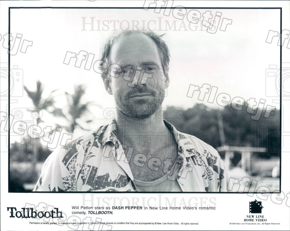 1996 American Actor Will Patton in Film Tollbooth Press Photo ady287 - Historic Images