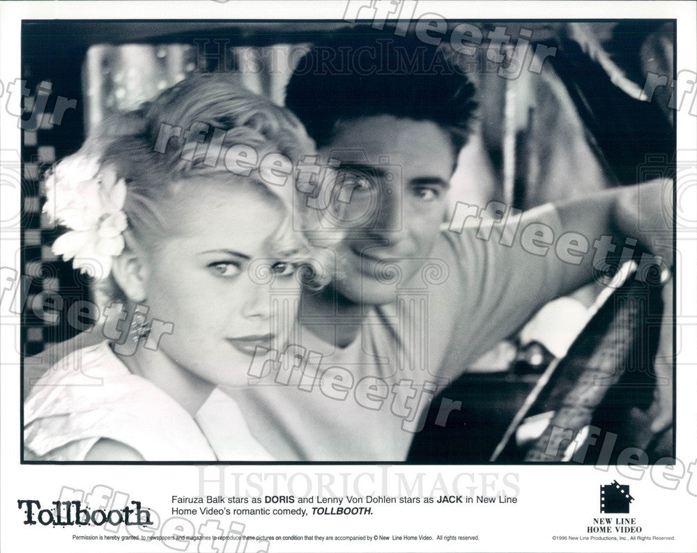 1996 Actors Lenny Von Dohlen & Fairuza Balk in Film Tollbooth Press Photo ady291 - Historic Images