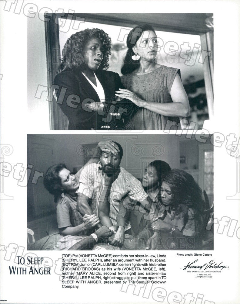1990 Actors Vonetta McGee, Sheryl Lee Ralph, Carl Lumbly Press Photo ady295 - Historic Images