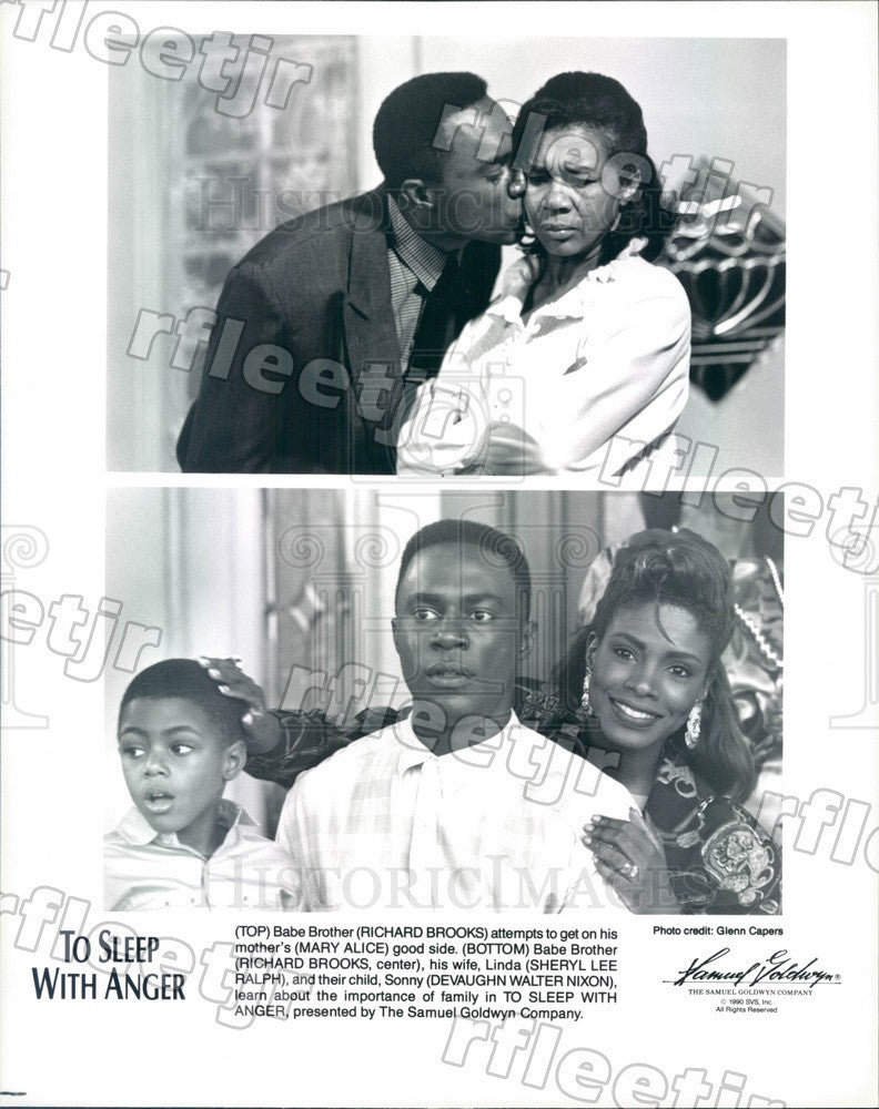 1990 Actors Sheryl Lee Ralph, Richard Brooks, Mary Alice Press Photo ady297 - Historic Images