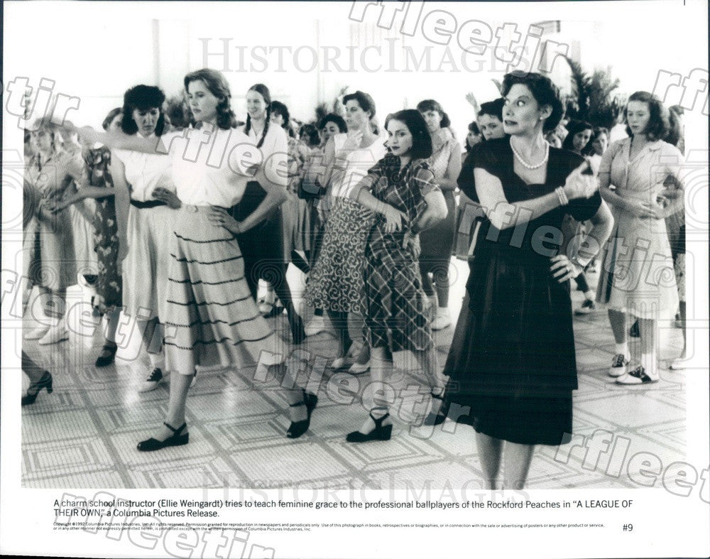 1992 Actors Ellie Weingardt, Oscar Winner Geena Davis Press Photo ady3 - Historic Images
