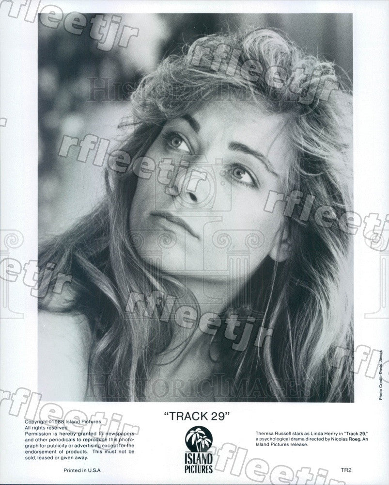 1988 American Actor Theresa Russell in Film Track 29 Press Photo ady309 - Historic Images