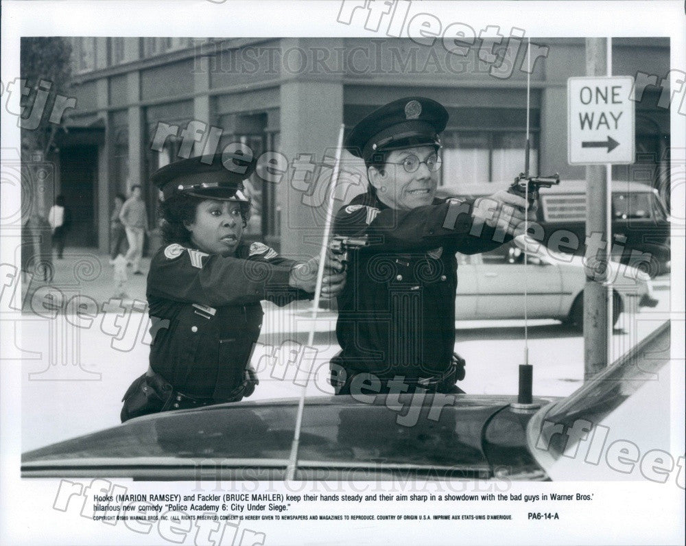 1989 Actors Marion Ramsey, Bruce Mahler in Film Police Academy Press Photo ady31 - Historic Images