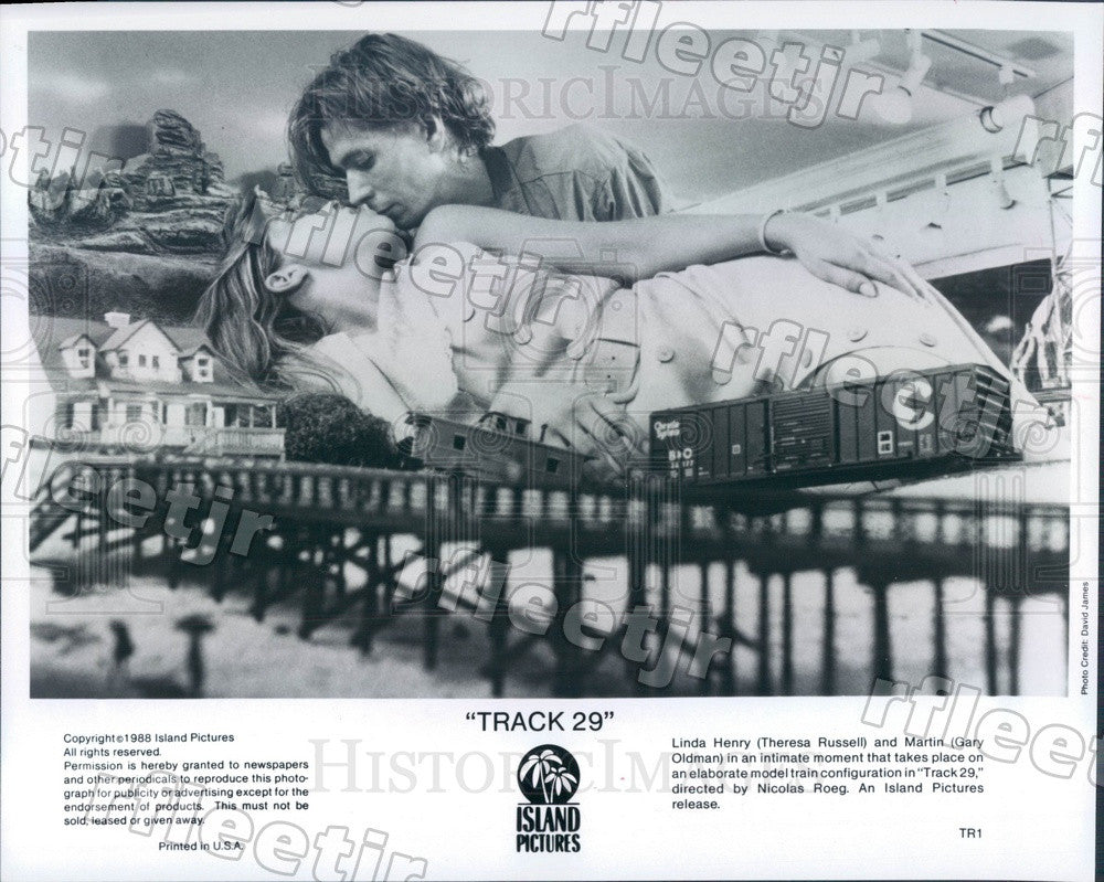 1988 Actors Theresa Russell & Gary Oldman in Film Track 29 Press Photo ady313 - Historic Images