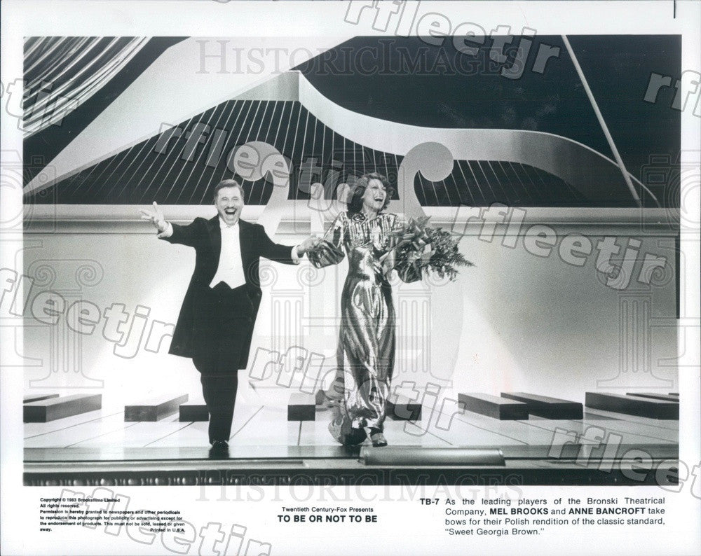 1983 Oscar Winning Actors Mel Brooks & Anne Bancroft in Film Press Photo ady319 - Historic Images