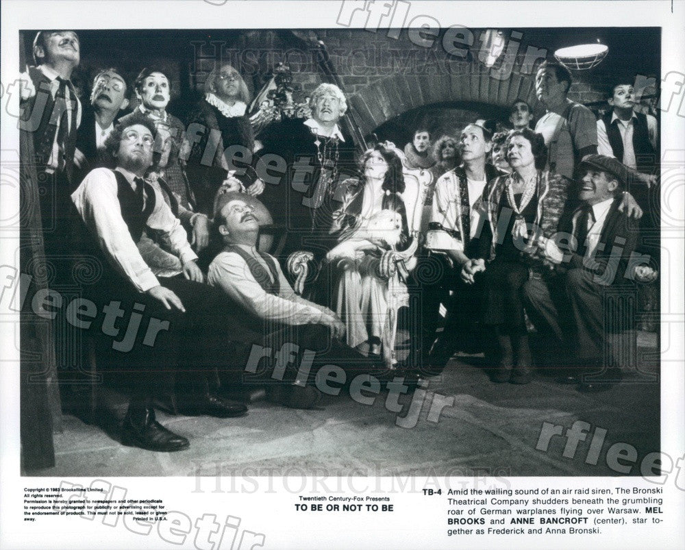 1983 Oscar Winning Actors Mel Brooks & Anne Bancroft in Film Press Photo ady327 - Historic Images