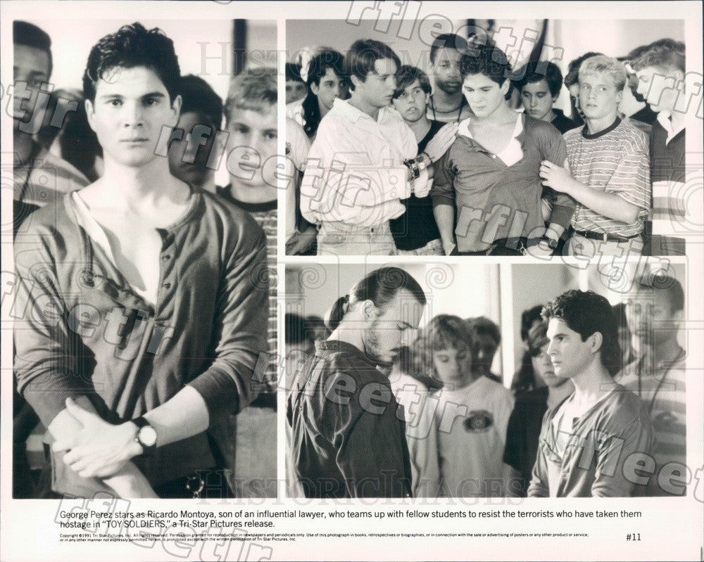 1991 Actor George Perez in Film Toy Soldiers Press Photo ady367 - Historic Images