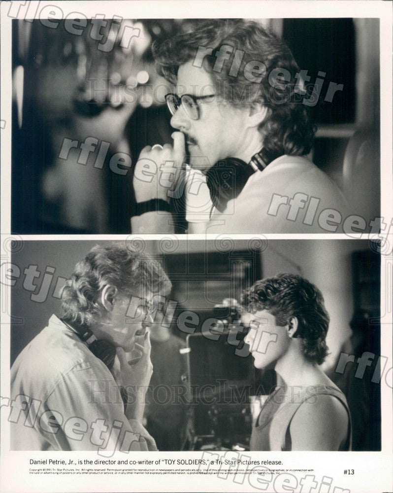 1991 Director, Writer Daniel Petrie, Actor Sean Astin of Film Press Photo ady369 - Historic Images