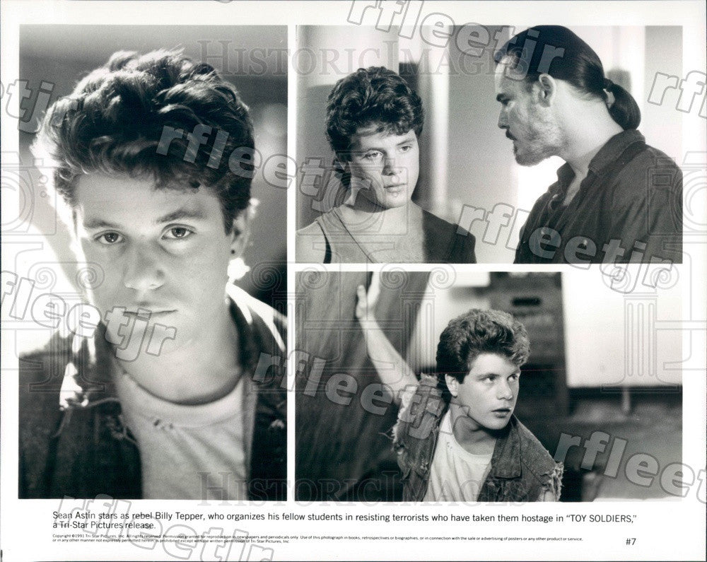 1991 American Actor Sean Astin in Film Toy Soldiers Press Photo ady375 - Historic Images