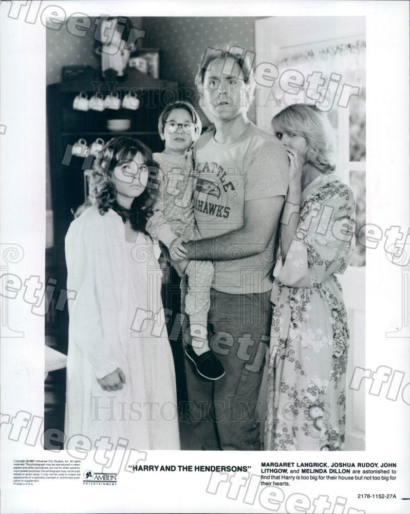 1987 Actors John Lithgow, Melinda Dillon, Margaret Langrick Press Photo ady397 - Historic Images