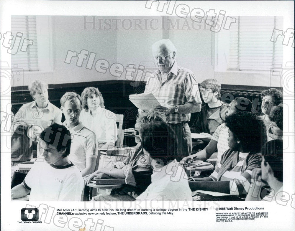 1985 Oscar Winning Actor Art Carney in Film The Undergrads Press Photo ady399 - Historic Images