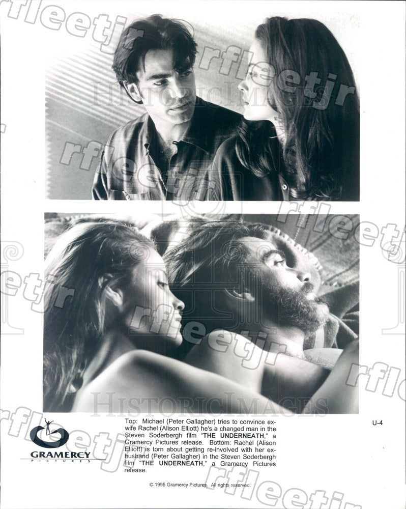 1995 Actors Peter Gallagher, Alison Elliott in The Underneath Press Photo ady401 - Historic Images
