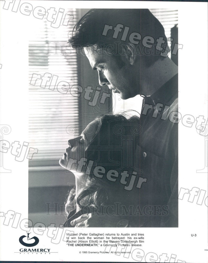 1995 Actors Peter Gallagher, Alison Elliott in The Underneath Press Photo ady407 - Historic Images