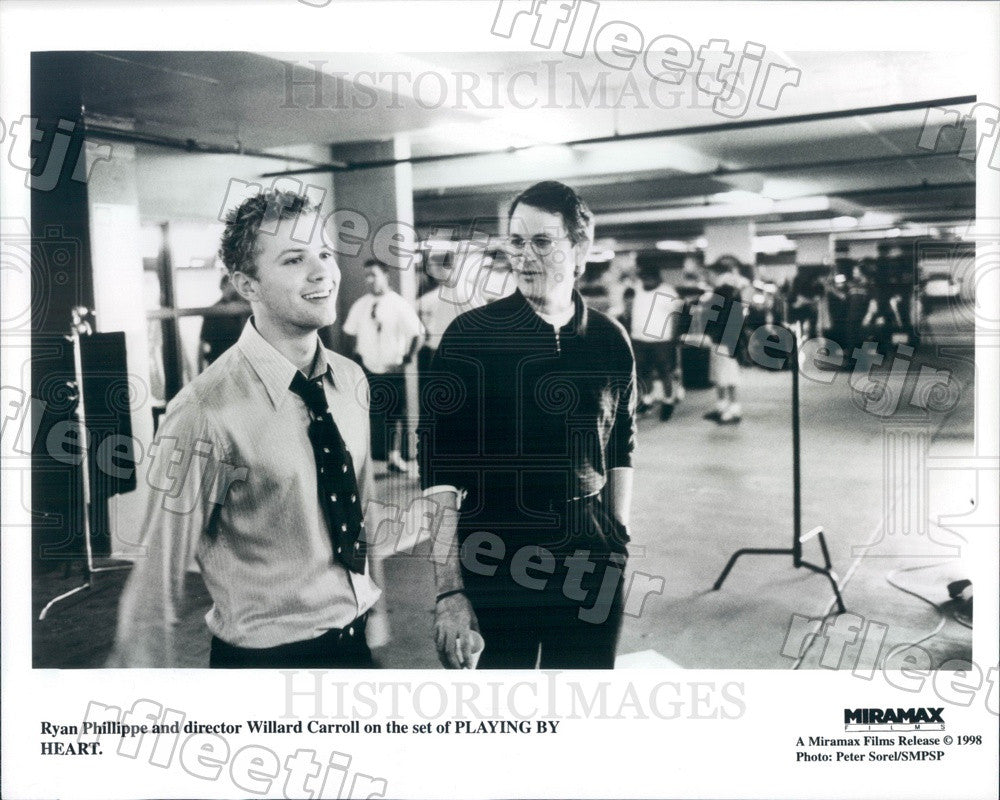 1998 Actor Ryan Phillippe & Director Willard Carroll Press Photo ady41 - Historic Images
