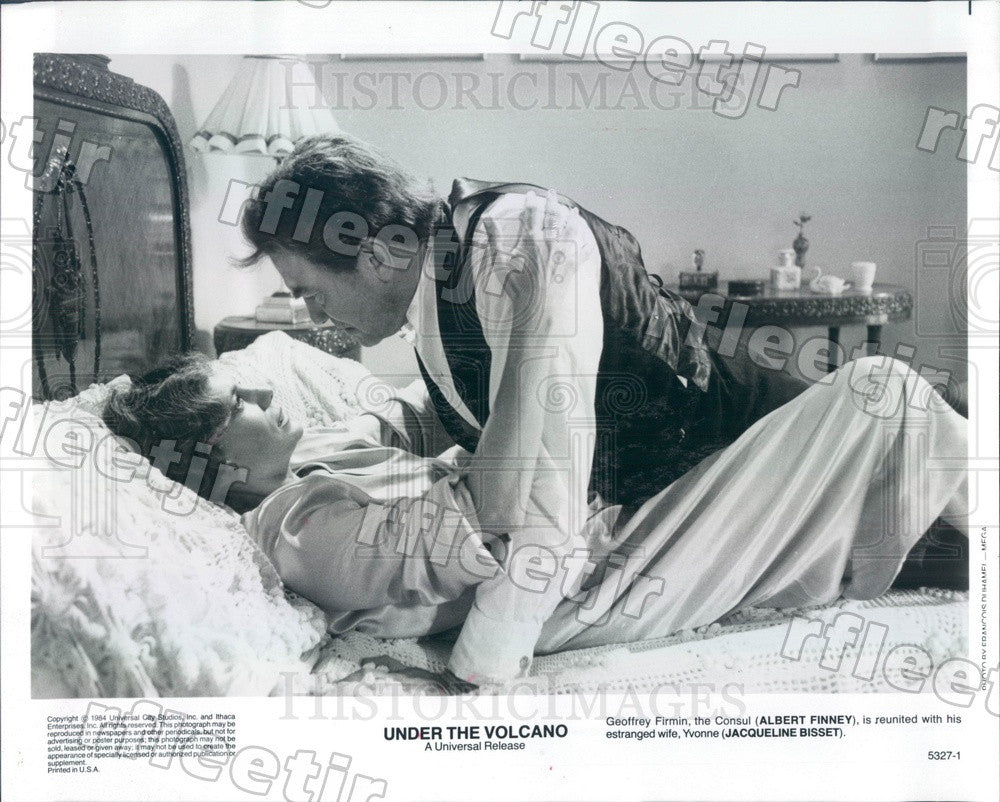 1984 Actors Jacqueline Bissett & Emmy Winner Albert Finney Press Photo ady411 - Historic Images