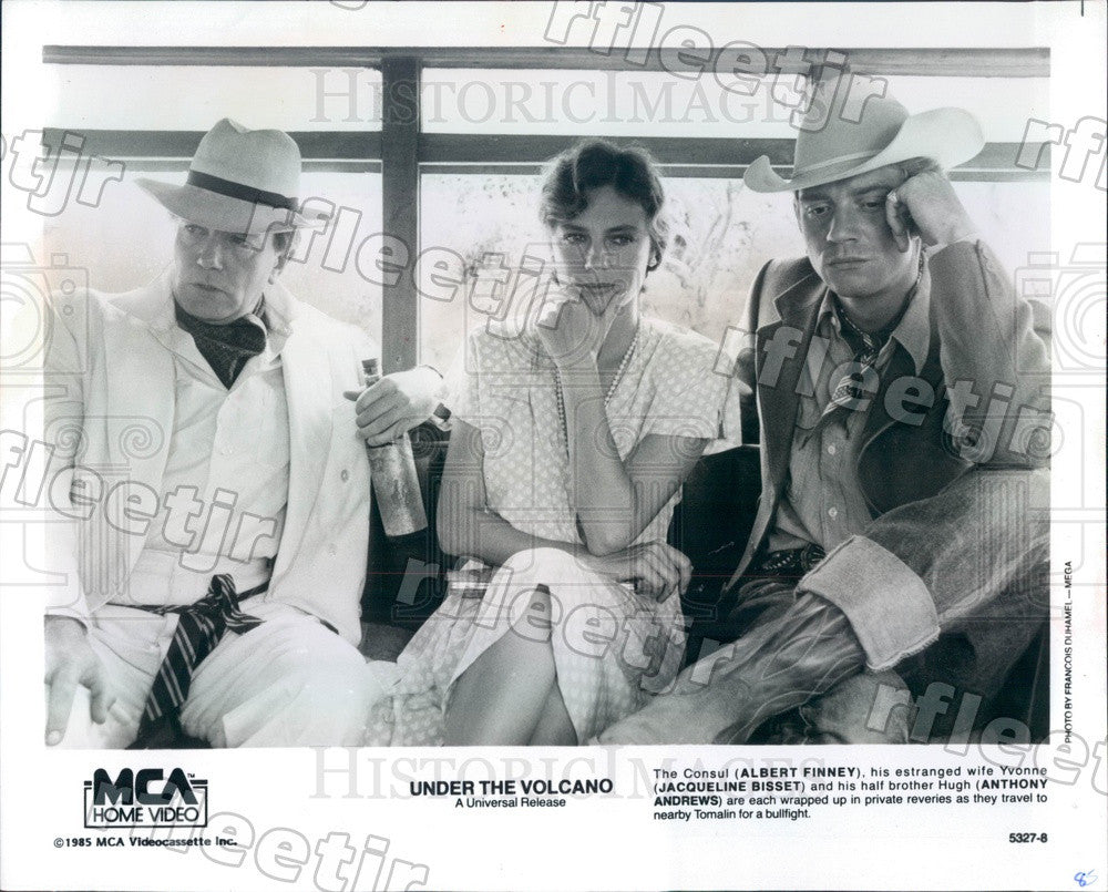 1985 Actor Jacqueline Bissett, Albert Finney, Anthony Andrews Press Photo ady415 - Historic Images