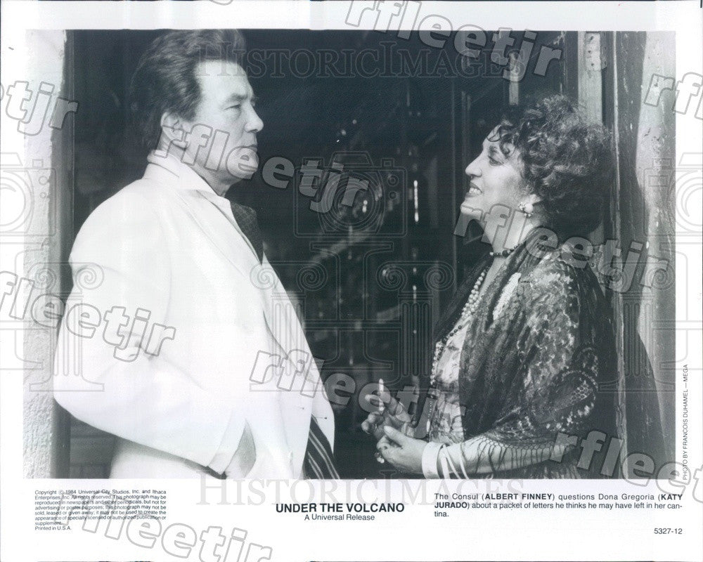 1984 Emmy Winning Actor Albert Finney & Katy Jurado in Film Press Photo ady417 - Historic Images