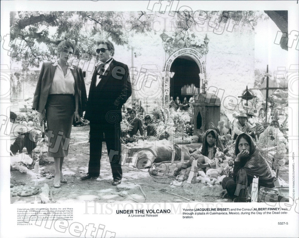 1984 Actors Jacqueline Bissett & Emmy Winner Albert Finney Press Photo ady419 - Historic Images